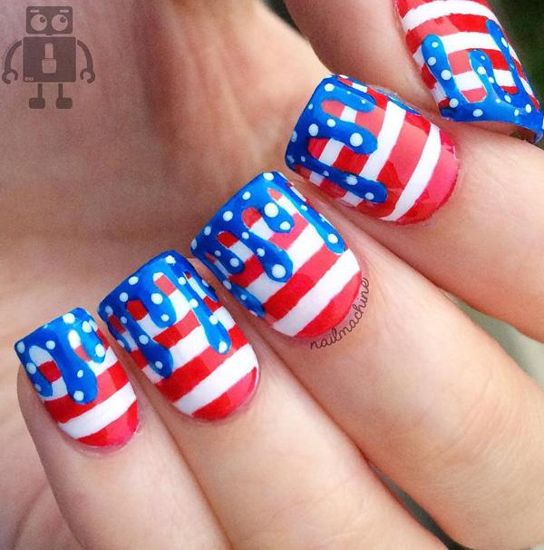 45 fourth of july nail art ideas for 4th of july nail art decoration flag