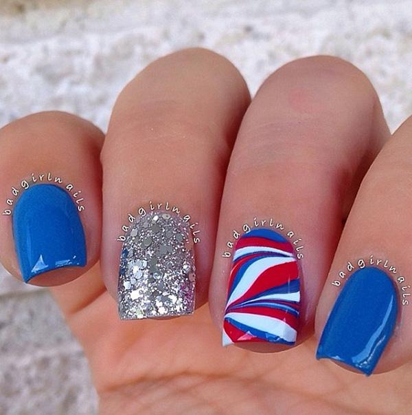 fourth of july nail-3