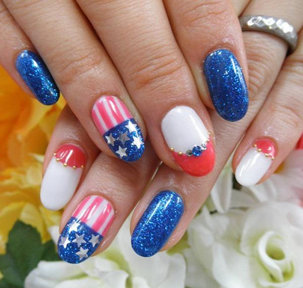 fourth of july nail-30