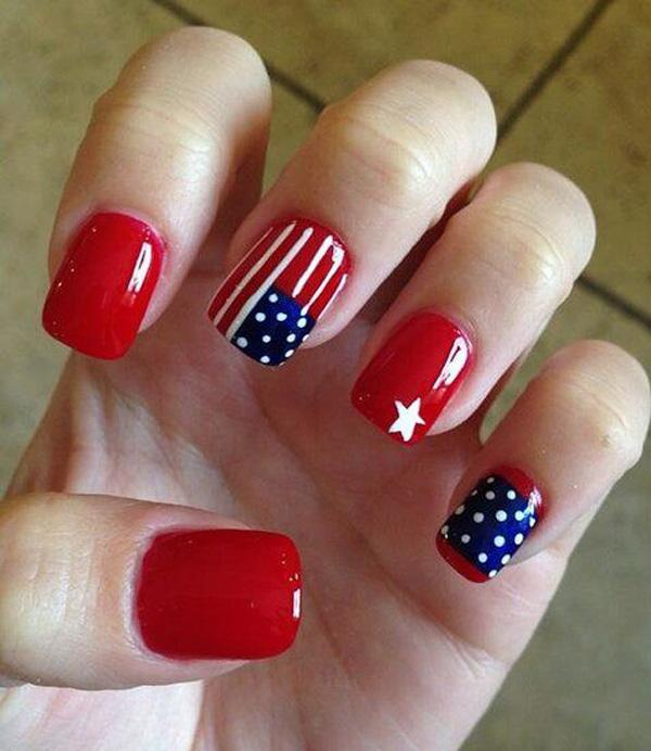 fourth of july nail-32