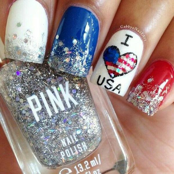 fourth of july nail-33