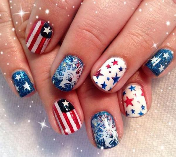 fourth of july nail-34