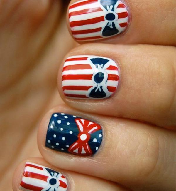 fourth of july nail-36