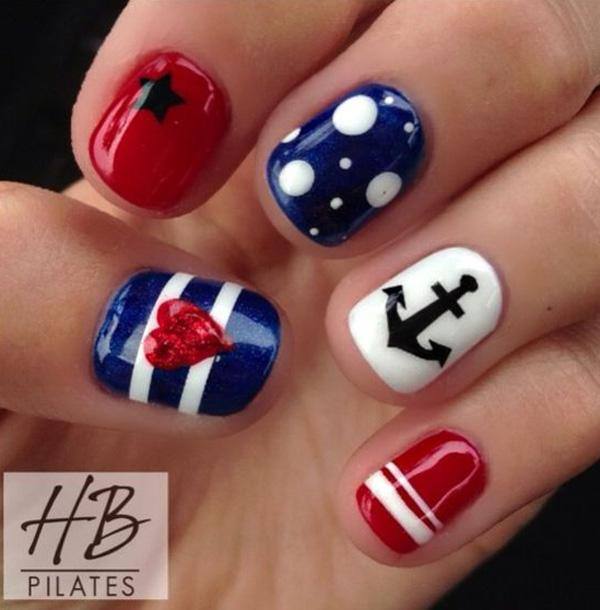 fourth of july nail-37