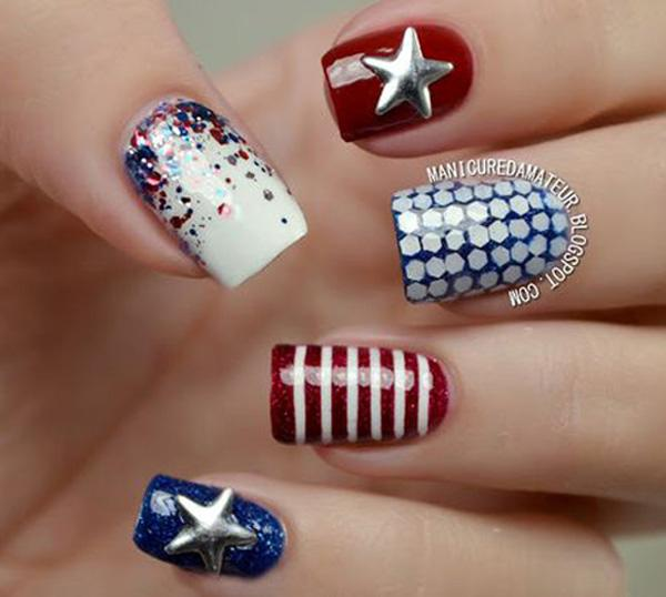 fourth of july nail-38