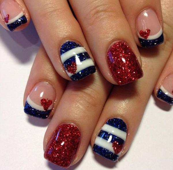 fourth of july nail-43