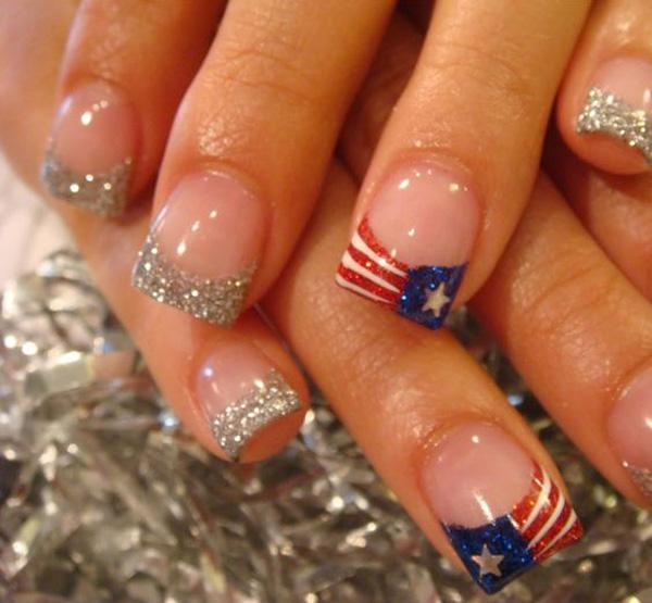 fourth of july nail-44