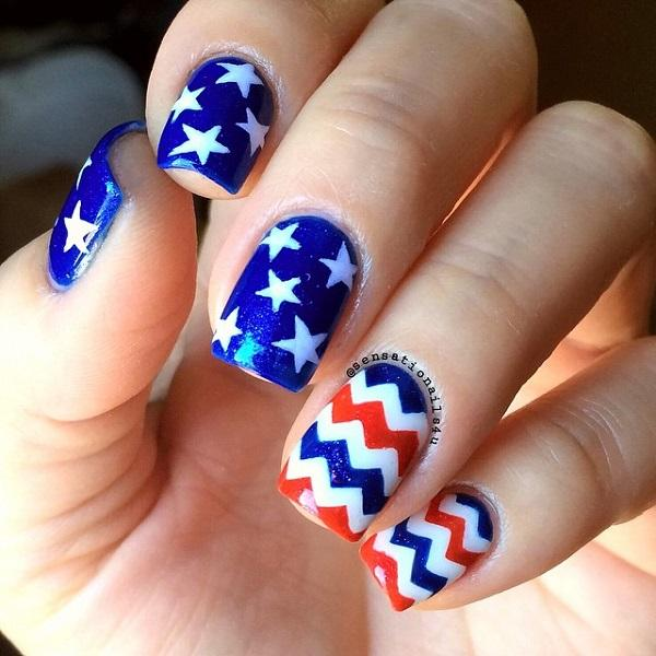 45 Fourth of July Nail Art Ideas | Art and Design