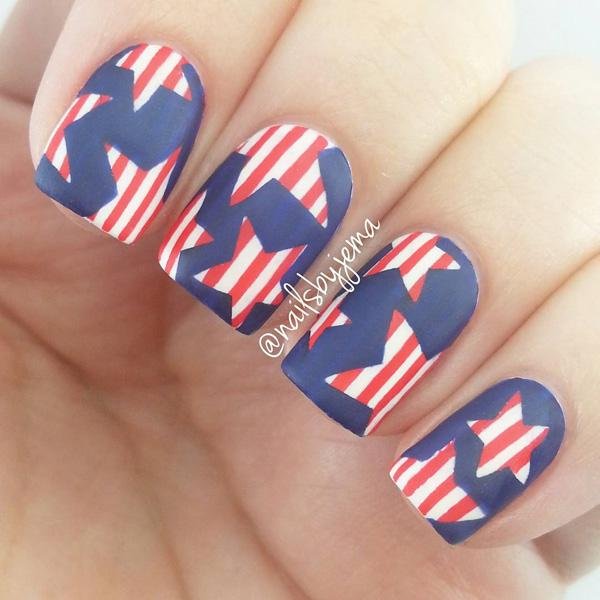 fourth of july nail-7
