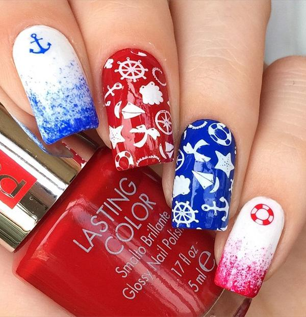 fourth of july nail-9