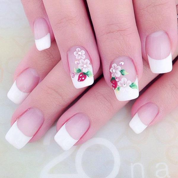 white nail art-12