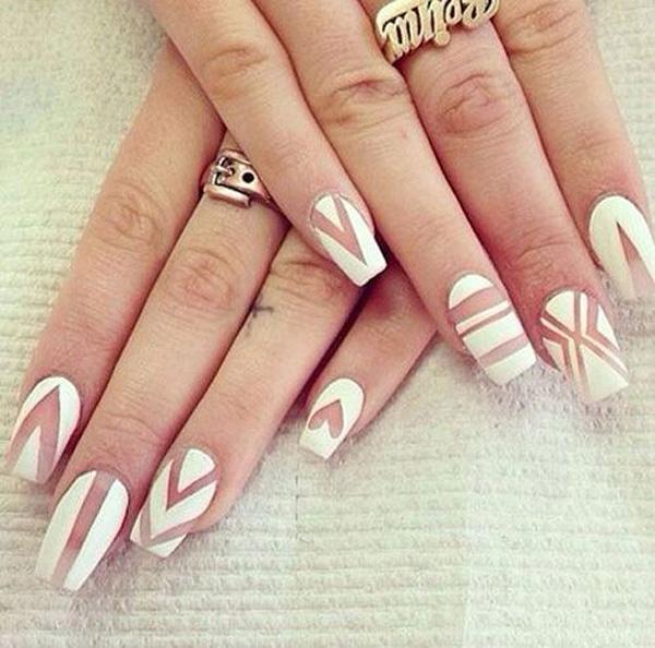 white nail art-13
