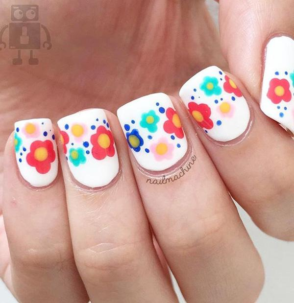 50 white nail art ideas art and design in this preppy nail art design its all about prinsesfo Images