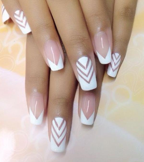 white nail art-21