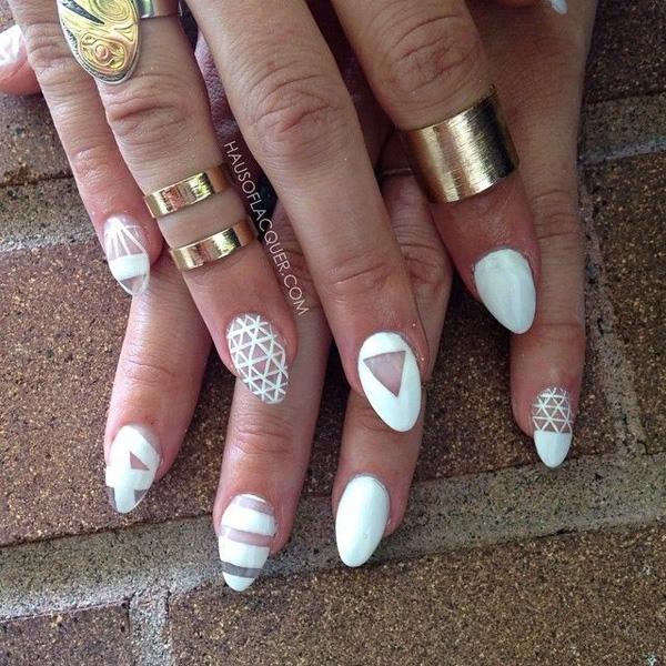 white nail art-22