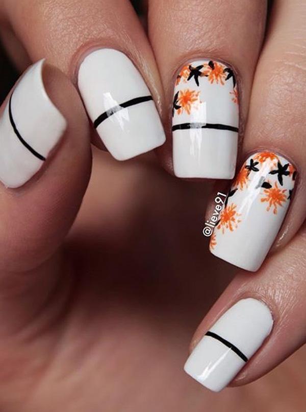 white nail art-24