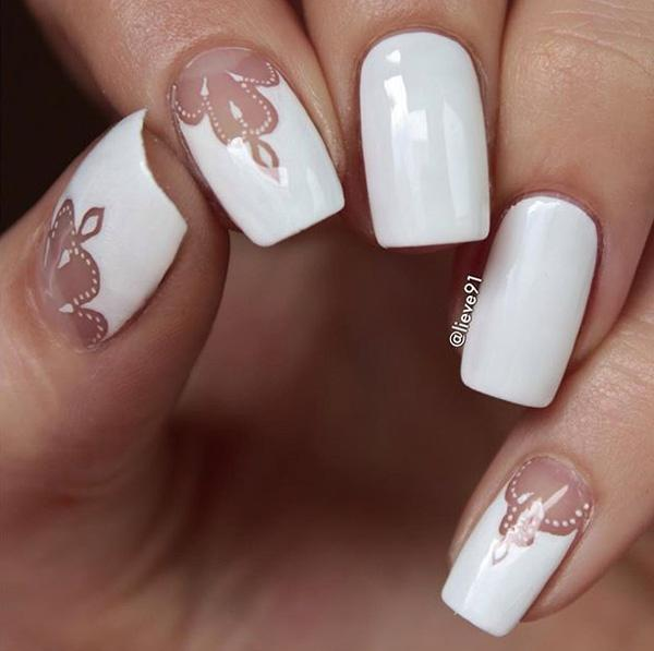 white nail art-26
