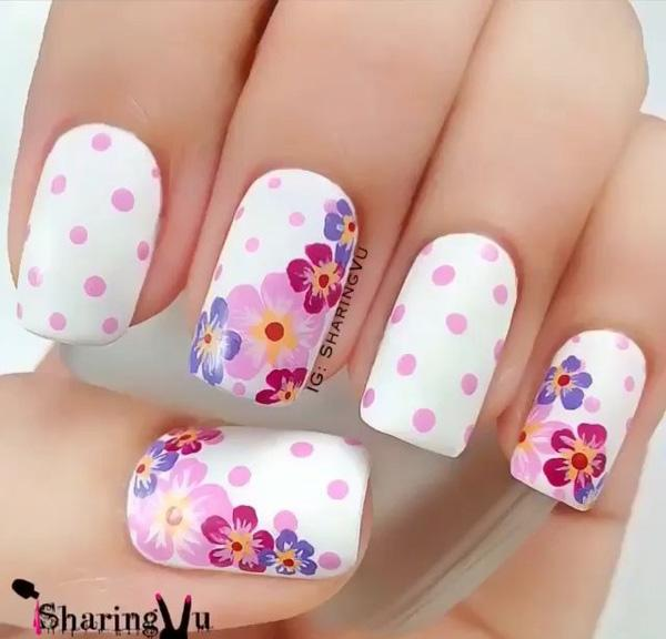 ... beautiful shapes using white nail polish and your natural nail color