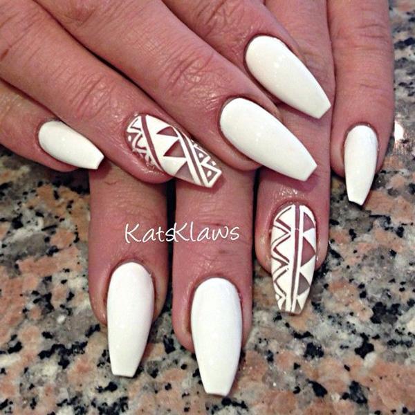white nail art-36