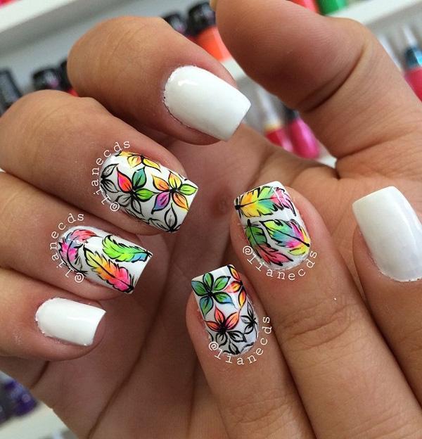 white nail art-41