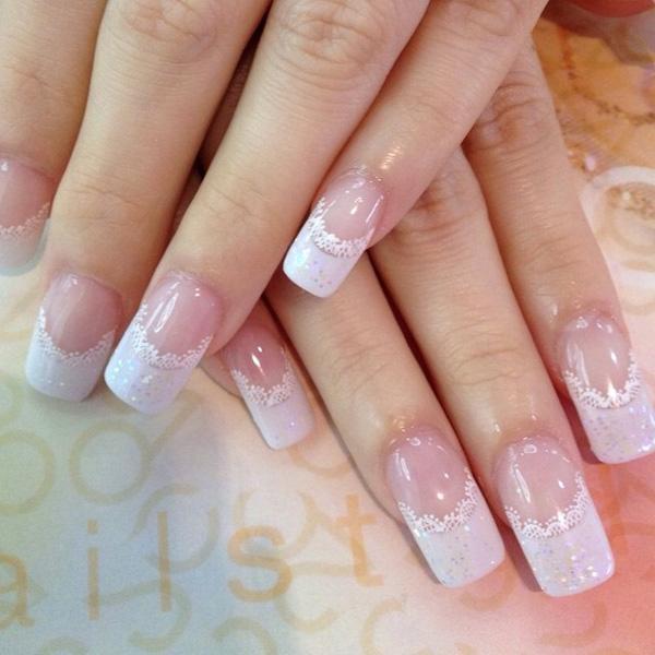 white nail art-43