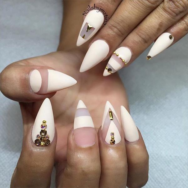 white nail art-49