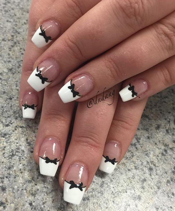 white nail art-7