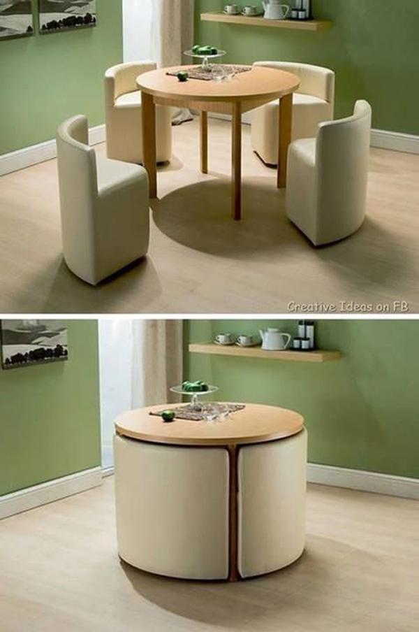 Brilliant design for table in small apartment