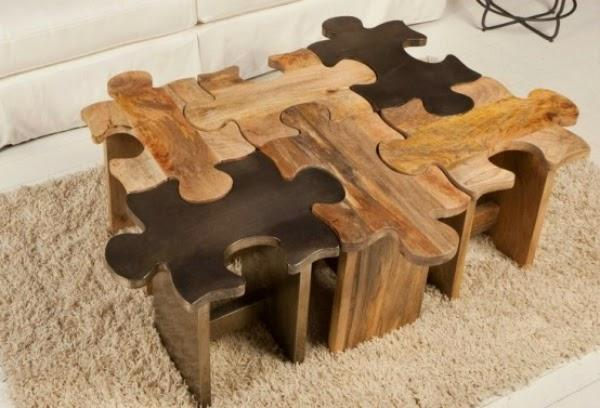 Creative furniture ideas Wooden Puzzle Table