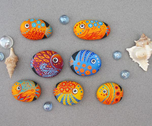 Fish Painted Stones