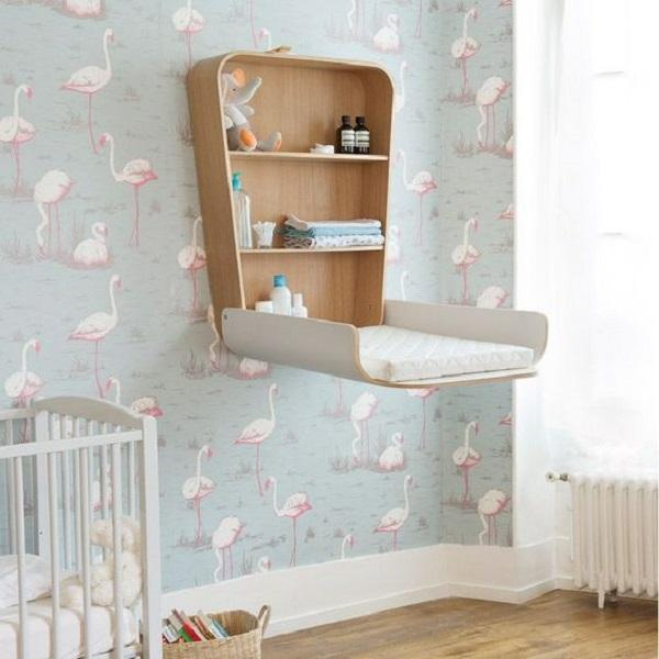 Space Saving Wall Mounted Baby Changing Table