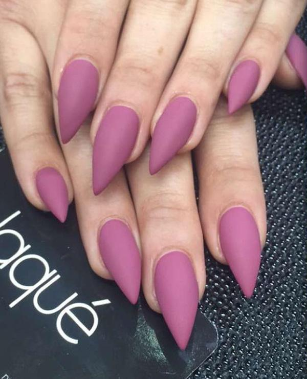 Yep, these claw-like nails could be intimidating but you can make it work  ... - 50 Matte Nail Polish Ideas Art And Design