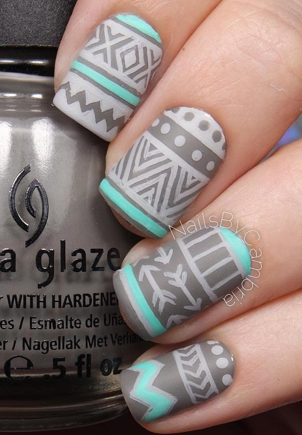 Use your darker matte gray nail polish and use it as the base. - 50 Matte Nail Polish Ideas Art And Design