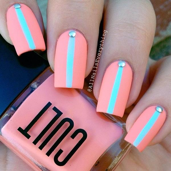 want a simpler design but something you can easily wear on parties - Nail Polish Design Ideas