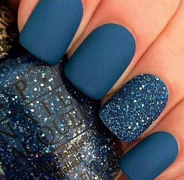 This one is almost the same with normal designs these days where the ring  finger's the ... - 50 Matte Nail Polish Ideas Art And Design