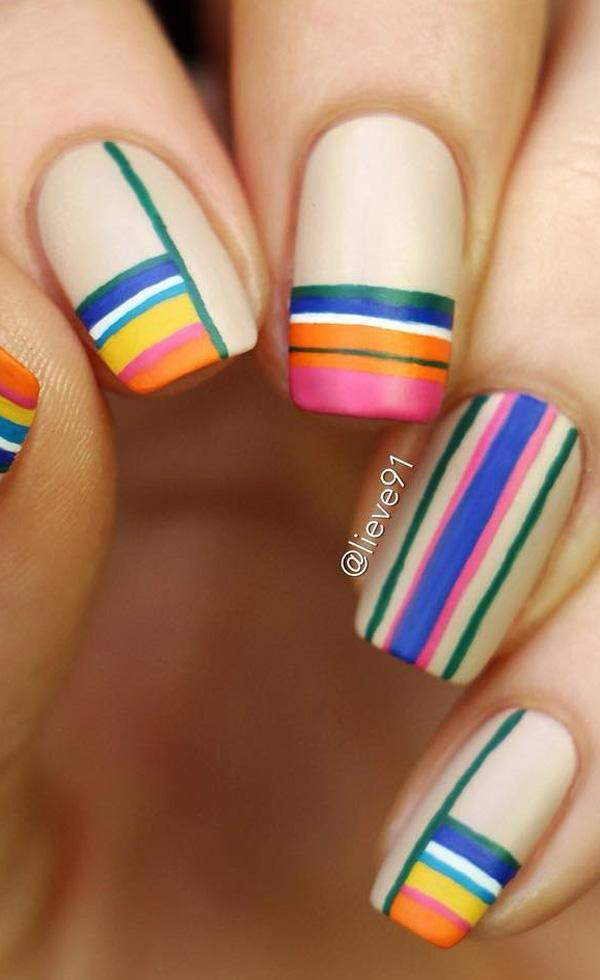 You can now make it look like modern art ... - 50 Matte Nail Polish Ideas Art And Design