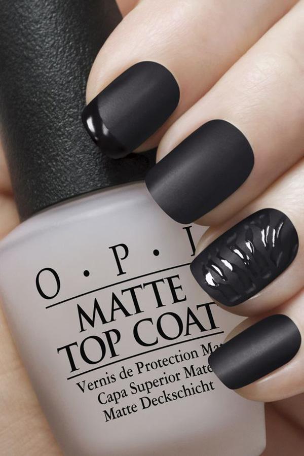 Bildergebnis für nail polish black matt