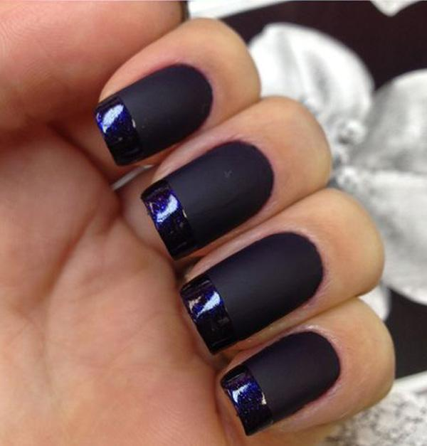 If You Think Matte Black Is Boring Can Add The Glossy Nail Polish