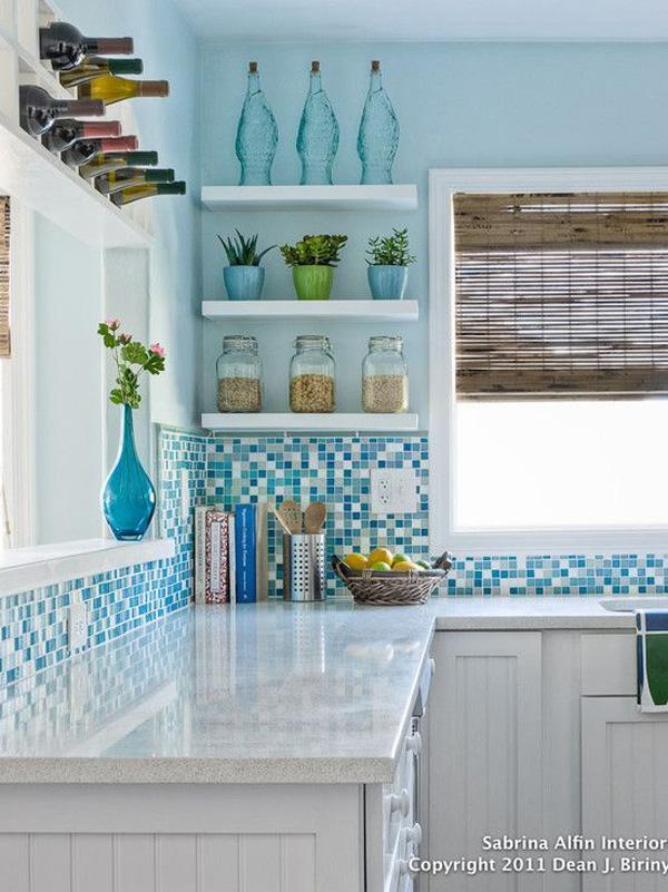 Coastal style kitchen idea-37