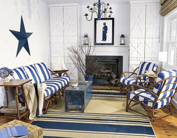 Coastal style living room design-2