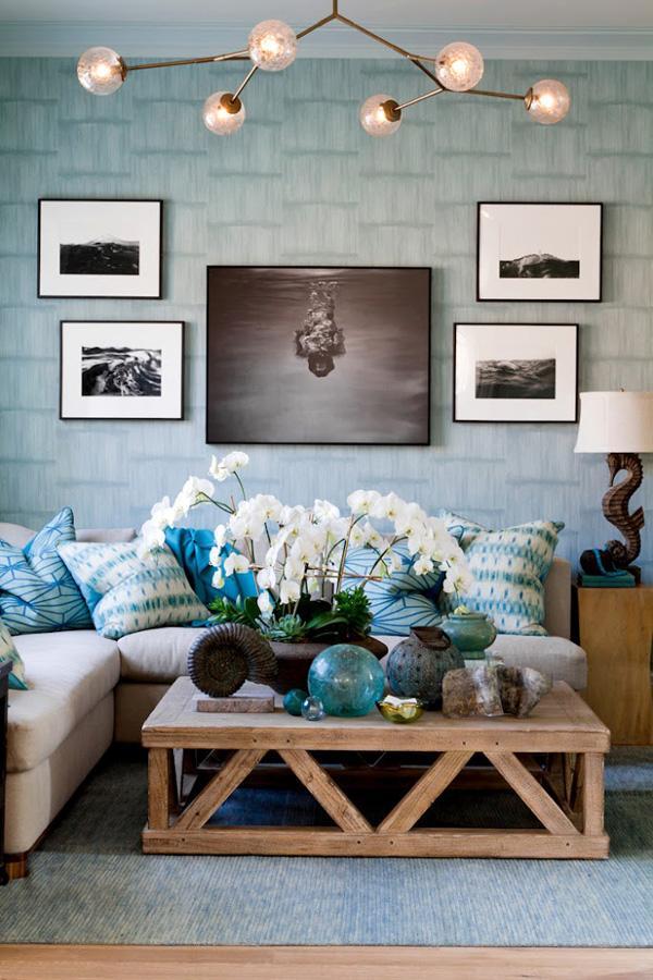 Coastal style living room idea-19