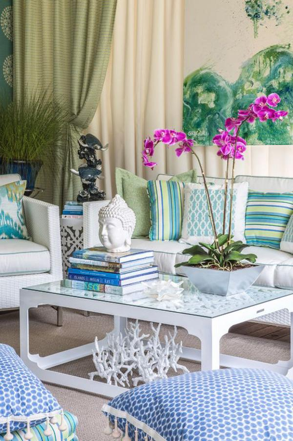 Coastal style living room idea-23