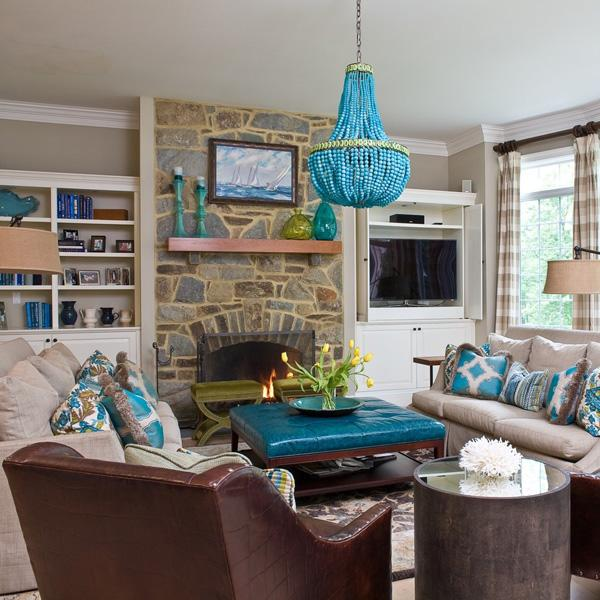 Coastal style living room idea-25