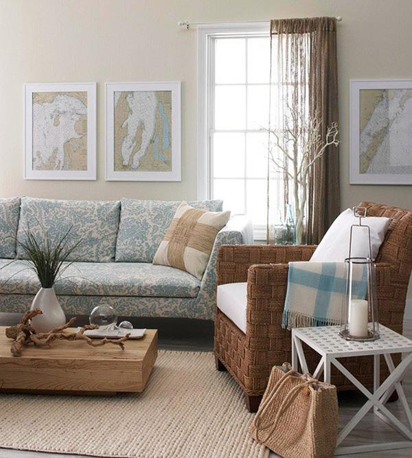 Coastal style living room idea-29