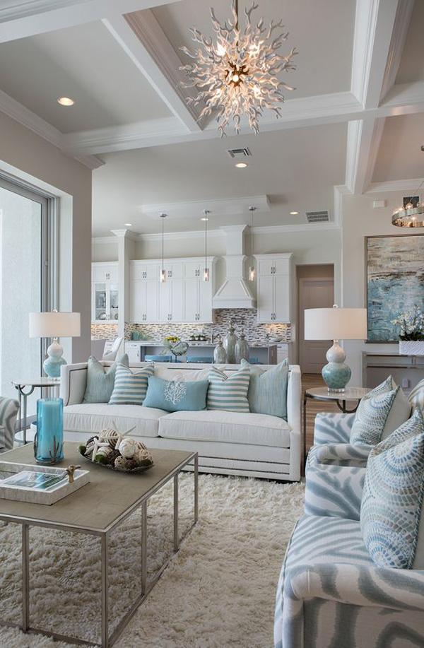 Coastal style living room idea-30