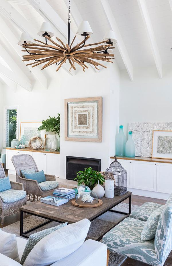 Coastal style living room idea-31
