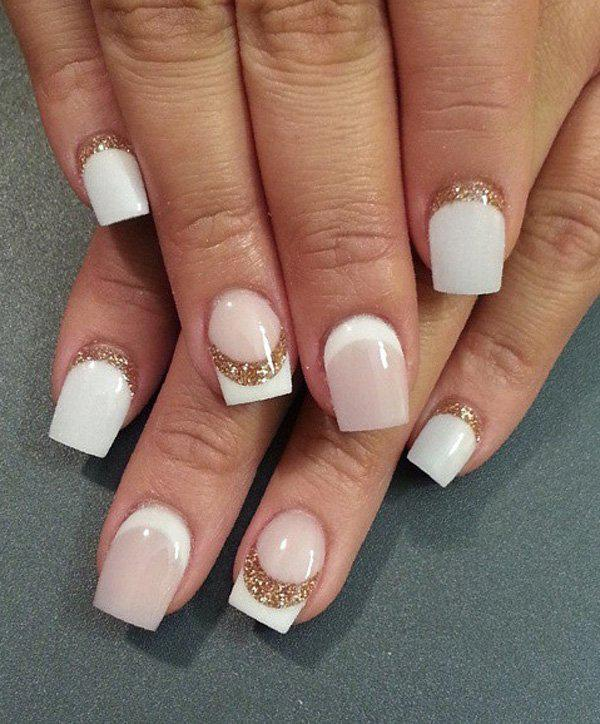 Half Moon Nail Art - 50 Half Moon Nail Art Ideas ... - 50 Half Moon Nail Art Ideas Art And Design