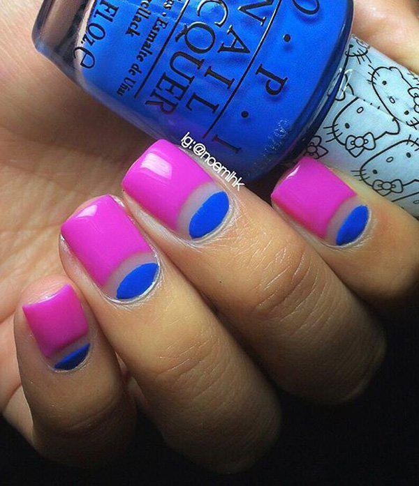 50 Half Moon Nail Art Ideas | Art and Design