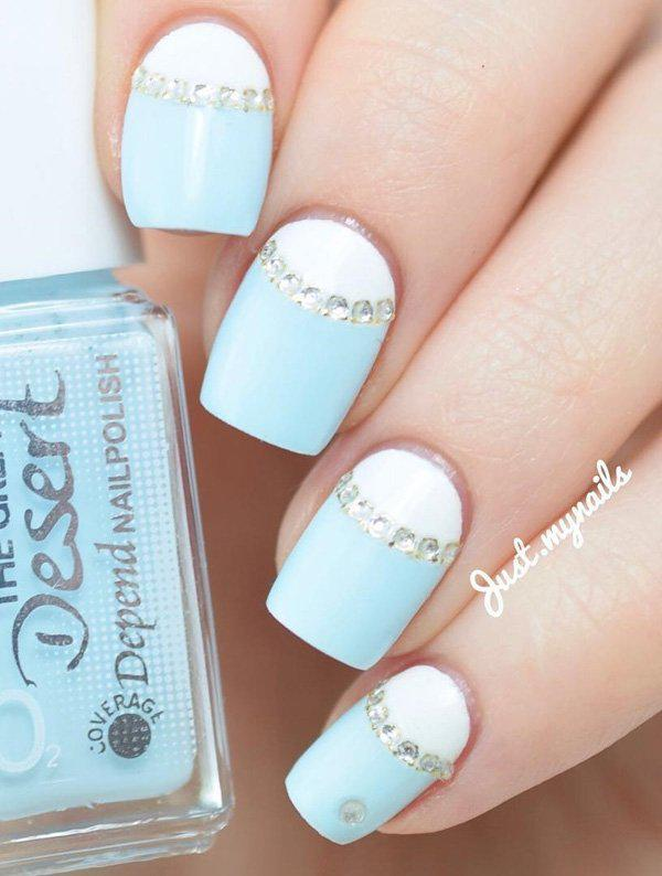 half-moon-nail-art - 50 Half Moon Nail Art Ideas ... - 50 Half Moon Nail Art Ideas Art And Design