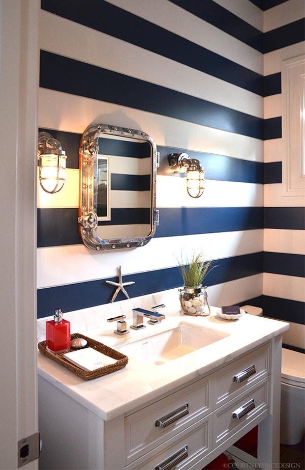 Nautical Bathroom by Melanie Roy Design